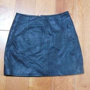 Asos Black Leather Mini Skirt Size 0